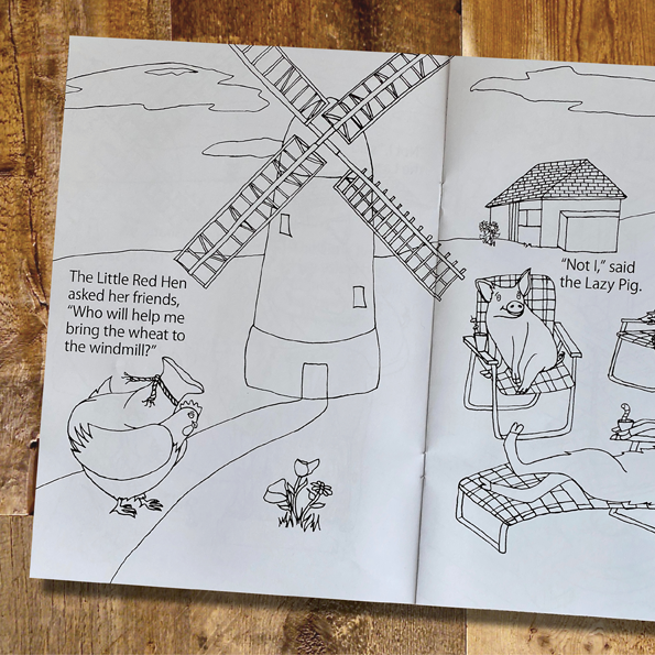 Little Red Hen Colouring Book