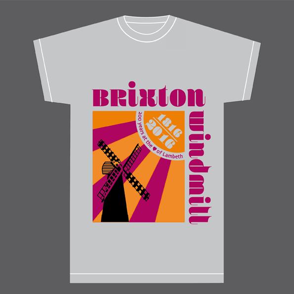 retro brixton windmill t-shirt