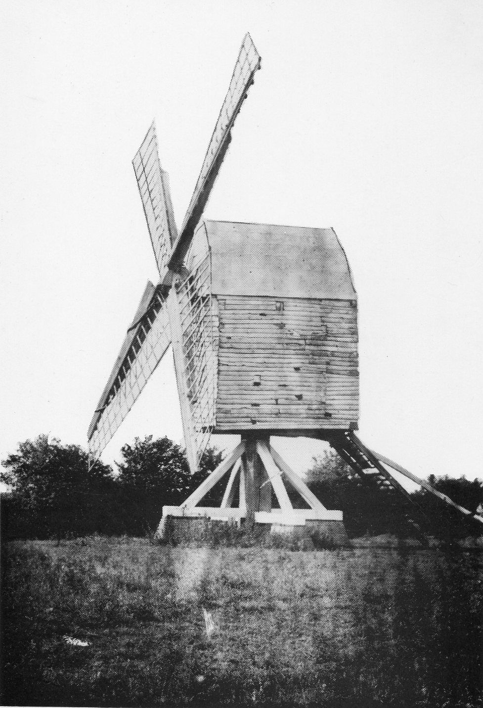 photo of a post mill
