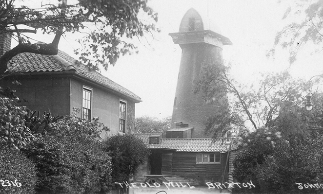 Brixton Windmill - historic photo