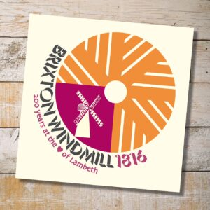 Millstone greeting card orange